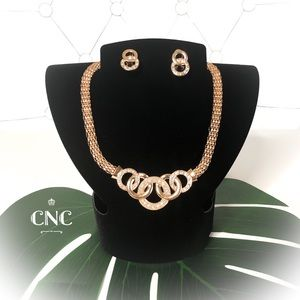 Elegant Gold Plated Statement Necklace Gift Set 🔥